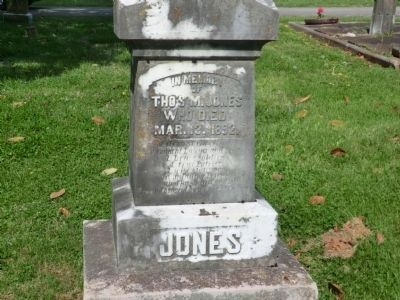 Thomas McKissack Jones-Close up of Tombstone image. Click for full size.