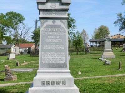 General John Calvin Brown-Close up of the front of the monument image. Click for full size.