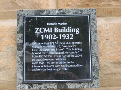 ZCMI Building Marker image. Click for full size.