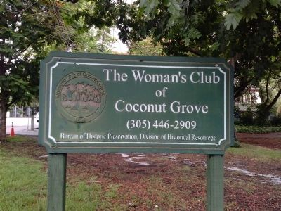 Women's Club of Coconut Grove sign image. Click for full size.