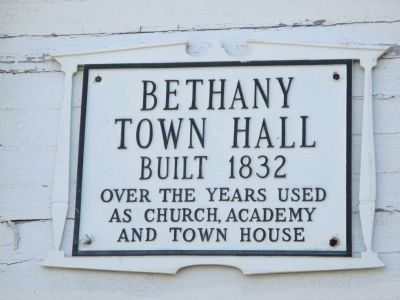 Bethany Town Hall Marker image. Click for full size.