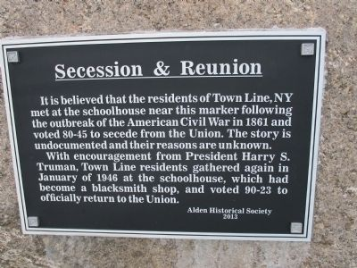 Secession & Reunion Marker image. Click for full size.