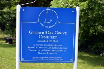 Greider / Oak Grove Cemetery Marker image. Click for full size.