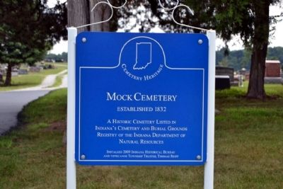 Mock Cemetery Marker image. Click for full size.