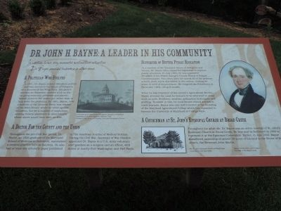 Dr. John H. Bayne: A Leader In His Community Marker image. Click for full size.