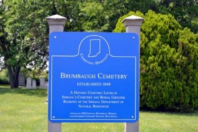 Brumbaugh Cemetery Marker image. Click for full size.