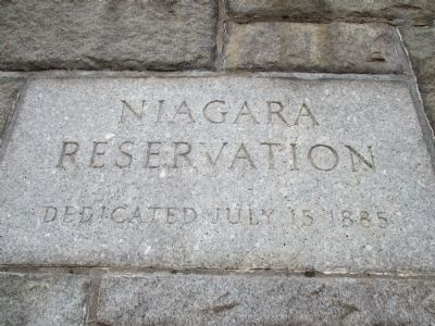 Niagara's Industrial Beginnings and the Establishment of the State Reservation Marker image. Click for full size.