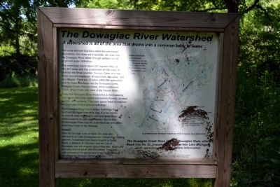 The Dowagiac River Watershed / Lunker Structures Marker image. Click for full size.
