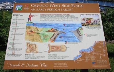 Oswego West Side Forts Marker image. Click for full size.