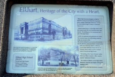 Elkhart High School Marker image. Click for full size.