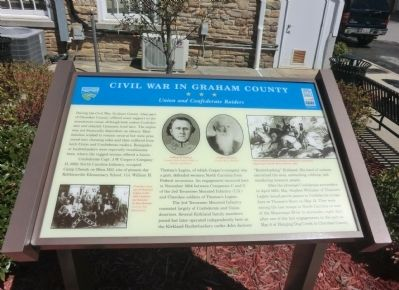 Civil War in Graham County Marker image. Click for full size.