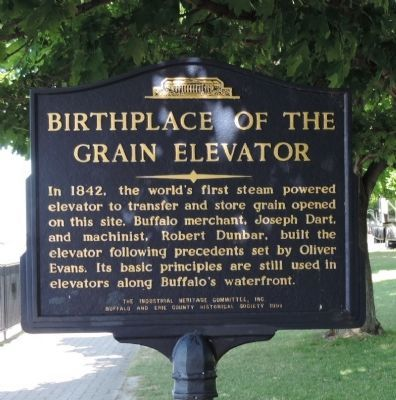 Birthplace of the Grain Elevator Marker image. Click for full size.