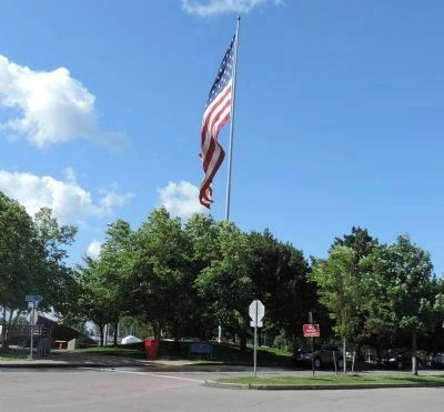 Rotary Club of Buffalo Centenniel Flagpole (2011) image. Click for full size.