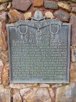 Settlement of Scipio Marker image. Click for full size.