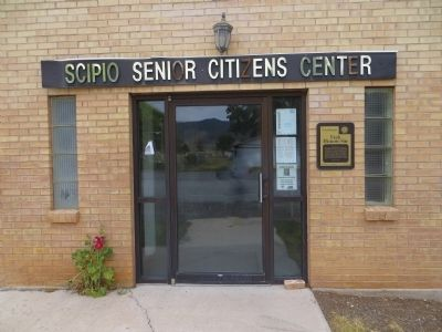 Scipio Town Hall Marker image. Click for full size.
