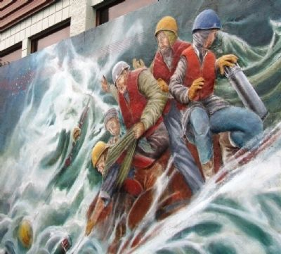 Year of the Ocean Mural Detail of CCGS JP Tully Scientists and Crew image. Click for full size.