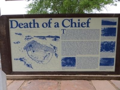 Land of the Yuta Marker- Death of a Chief image. Click for full size.