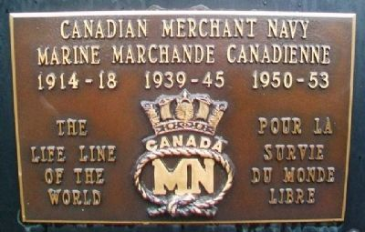 War Memorial - Canadian Merchant Navy image. Click for full size.