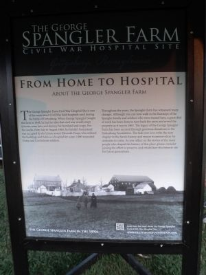 The George Spangler Farm Civil War Hospital Site Marker image. Click for full size.