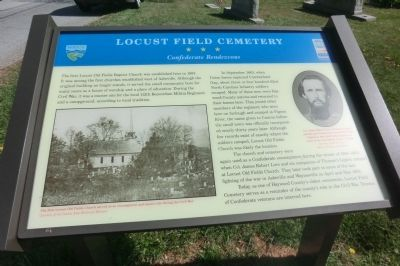 Locust Field Cemetery Marker image. Click for full size.