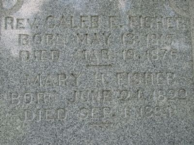 Mary Hosford Fisher Family Monument image. Click for full size.