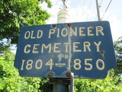 Old Pioneer Cemetery Sign image. Click for full size.