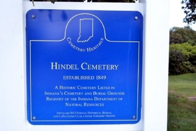 Hindel Cemetery Marker image. Click for full size.