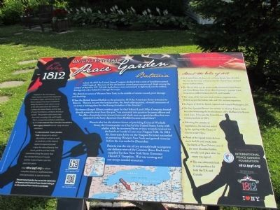 War of 1812 Peace Garden Plaque image. Click for full size.