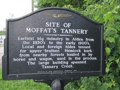 Site of Moffat's Tannery Marker image. Click for full size.