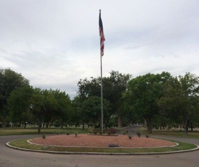 Veterans Memorial Circle at Woodlawn Cemetery image. Click for full size.