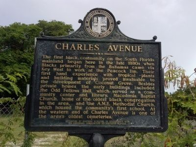 Charles Avenue Marker image. Click for full size.
