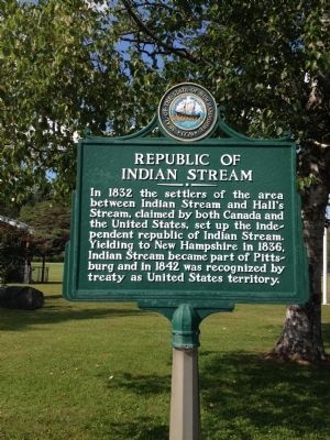 Republic of Indian Stream Marker image. Click for full size.