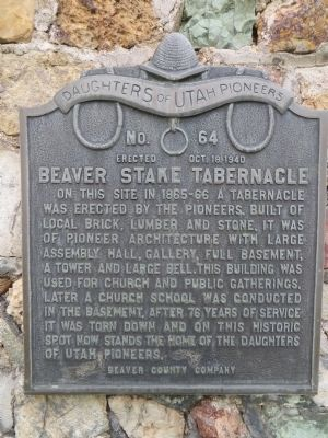 Beaver Stake Tabernacle Marker image. Click for full size.
