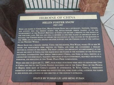 Heroine of China Marker image. Click for full size.