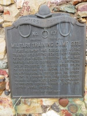 Military Training Camp Site Marker image. Click for full size.