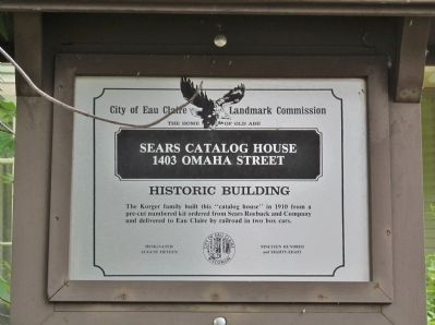 Sears Catalog House Marker image. Click for full size.