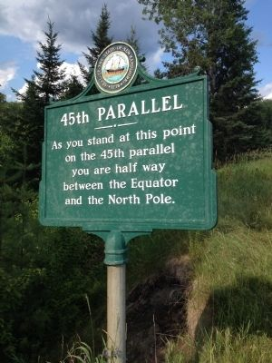 45th Parallel Marker image. Click for full size.