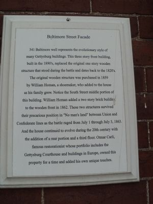 Baltimore Street Facade Marker image. Click for full size.