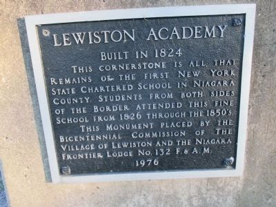 Lewiston Academy Marker image. Click for full size.