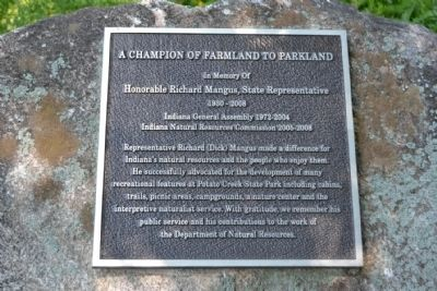 A Champion of Farmland to Parkland Marker image. Click for full size.