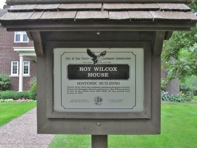 Roy Wilcox House Marker image. Click for full size.