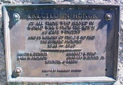 World War II Memorial Marker image. Click for full size.