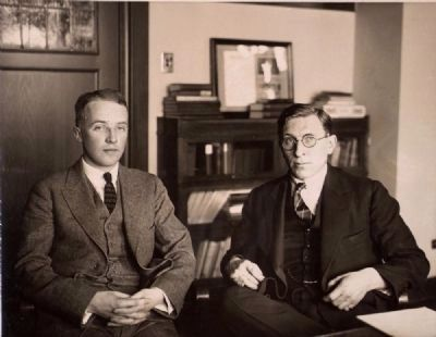 C. H. Best and F. G. Banting image. Click for full size.