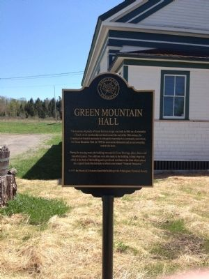 Green Mountain Hall Marker image. Click for full size.