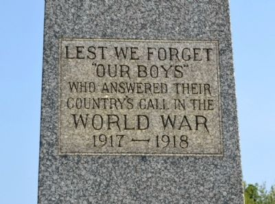 Michigan City World War I Memorial image. Click for full size.