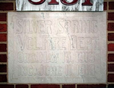 Silver Spring Fire Station Cornerstone image. Click for full size.