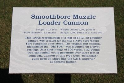Smoothbore Muzzle Loader Cannon Marker image. Click for full size.