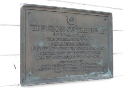 The Sign of the Bible Marker image. Click for full size.