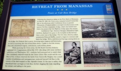 Retreat From Manassas Marker image. Click for full size.