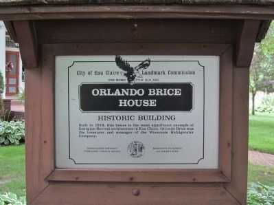 Orlando Brice House Marker image. Click for full size.